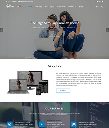 Wpparallax-Onepage Business Theme