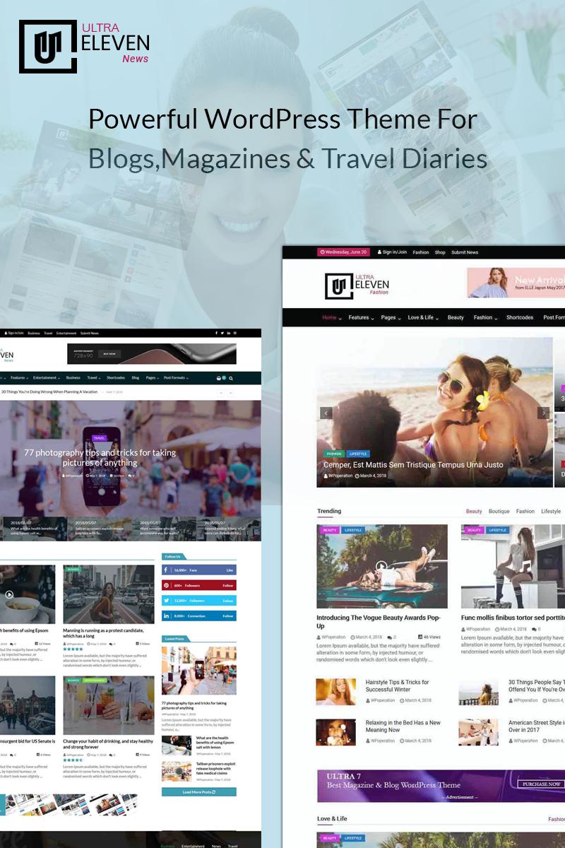 Ultra Eleven-Magazine, Blog & News Theme