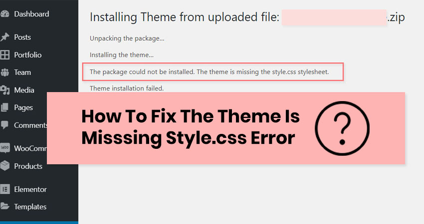 how to fix missing style.css error