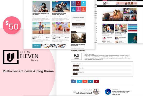 Ultra Eleven-Magazine, Blog & News Theme
