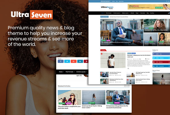 Ultra Seven-Free Magazine, Blog & News Theme