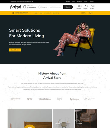Best Free Store WordPress Theme - Arrival Store